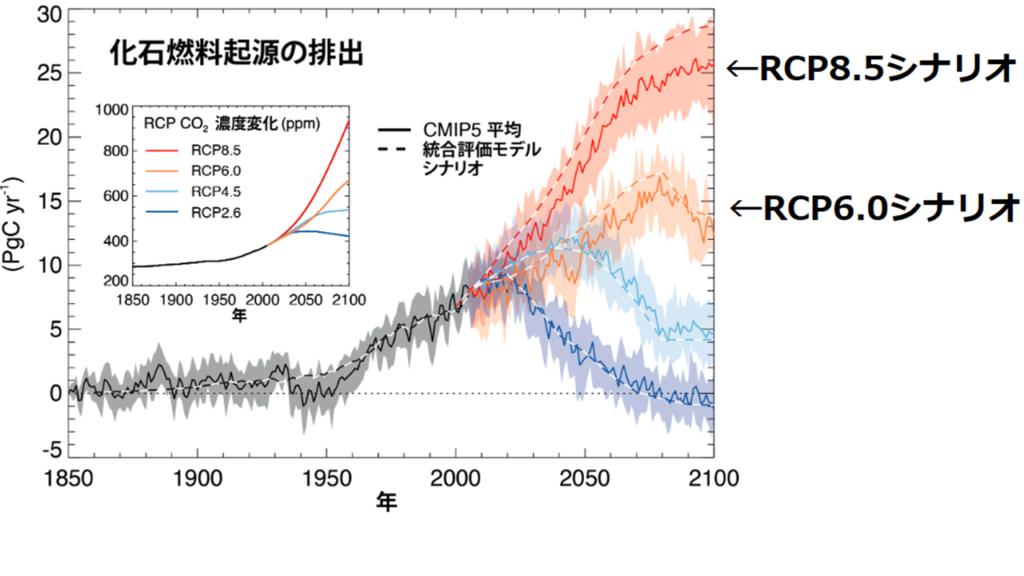 IPCCのRCPシナリオグラフ