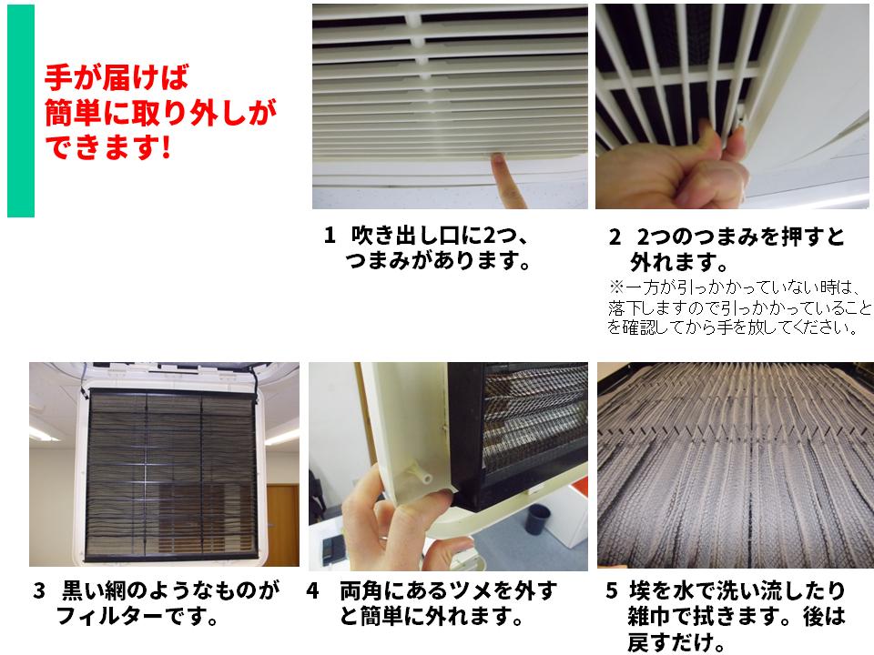業務用エアコン フィルターの外し方