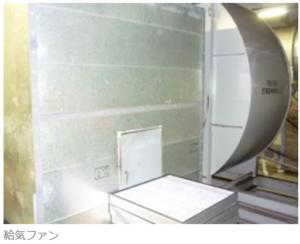 送風機 商業施設 地下駐車場換気装置1