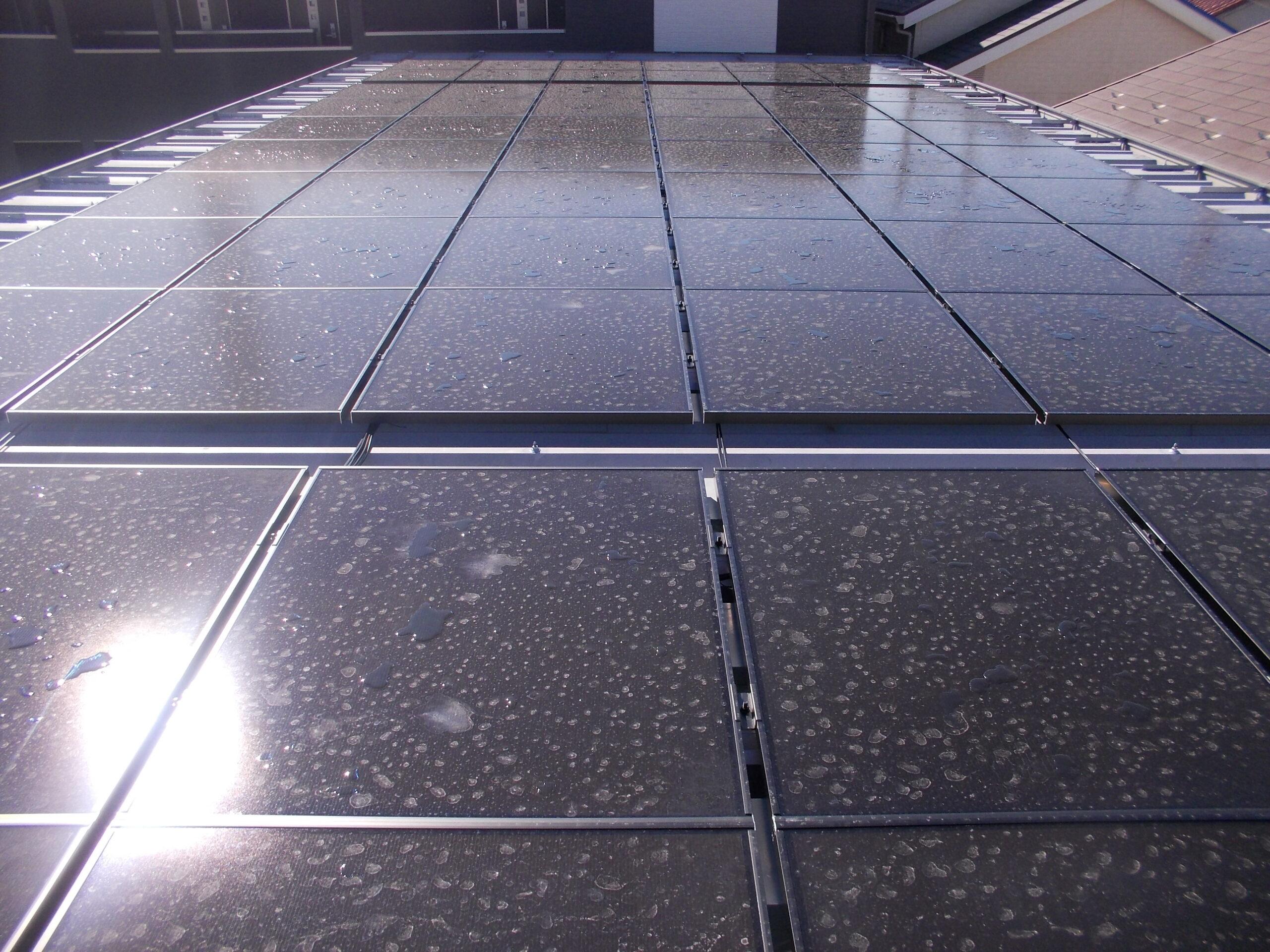 三郷の太陽光発電 様子